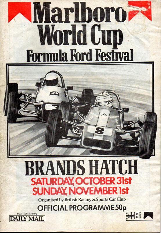 1981 Formula Ford Festival Programme Brands Hatch Brscc
